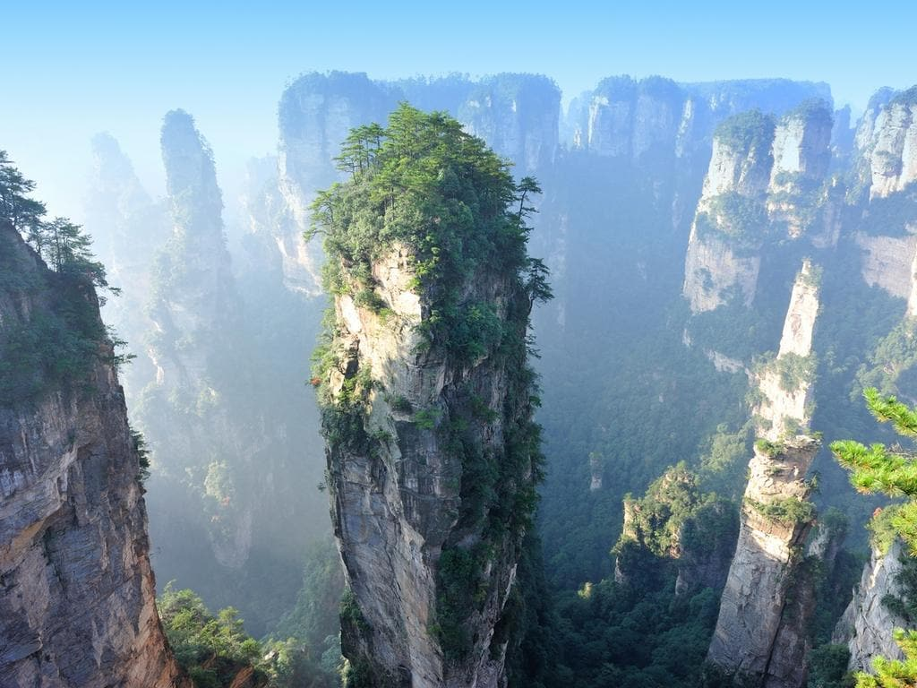 places china amazing visit most zhangjiajie famous mountains mountain movie escape scenery vertical avatar western canyon ride forest national park