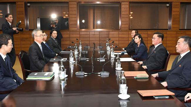 Hyon Song-wol was the only female at the high-level talks. Picture: South Korean Unification Ministry.