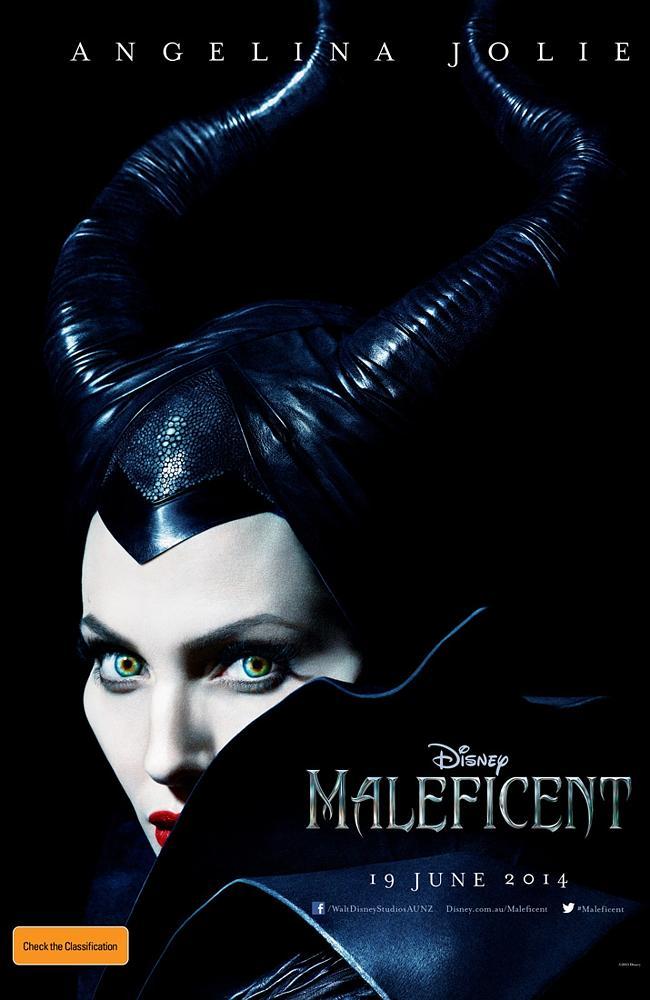 Woman in black ... Angelina Jolie in Disney's Maleficent.