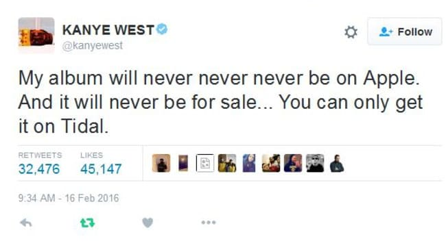 Well, that seems limiting Mr West.