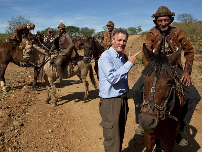 Palin at a cowboy festival near the city of Serrita in 2012 TV travel miniseries Brazil with Michael Palin, which also spawned a book. Picture: Supplied