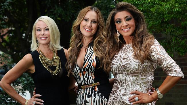 The Real Housewives of Melbourne's Gina Liano, seen here with co-stars Janet Roach and Jackie Gillies isn't sure if she will participate in season two.