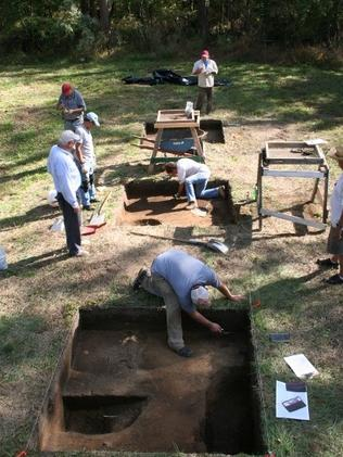 A photo from a 2012 excavation at Site X.