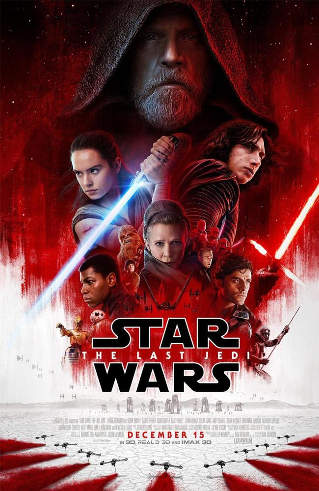 The poster for Star Wars: The Last Jedi. Picture: Supplied