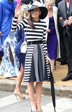 Tara Palmer-Tomkinson attends the wedding of Melissa Percy and Thomas van Straubenzee at Alnwick Castle on June 22, 2013. Picture: Danny E. Martindale/Getty Images