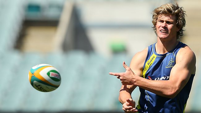 Berrick Barnes has been selected to play fullback for Australia on Saturday. Picture: Getty Images