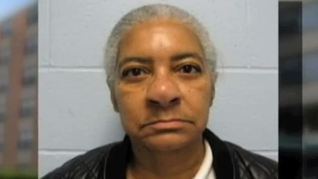 66-year-old Cheryl Chaney has also been charged over the alleged sex ring at the senior citizens housing complex. Picture: NBC 4 New York