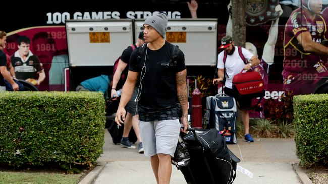 Willie Tonga's arrival with the Maroons squad was a major surprise. Pic: Mark Calleja.