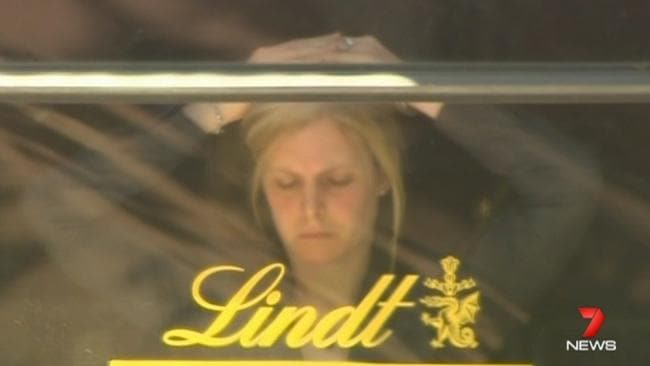 Hostage Julie Taylor inside the Lindt Cafe during the 2014.