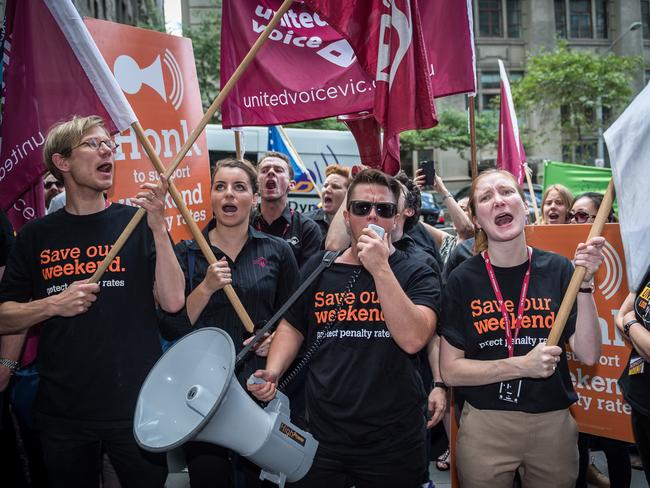 A lot of people are unconvinced of the benefits of penalty rate cuts. Picture: Jake Nowakowski