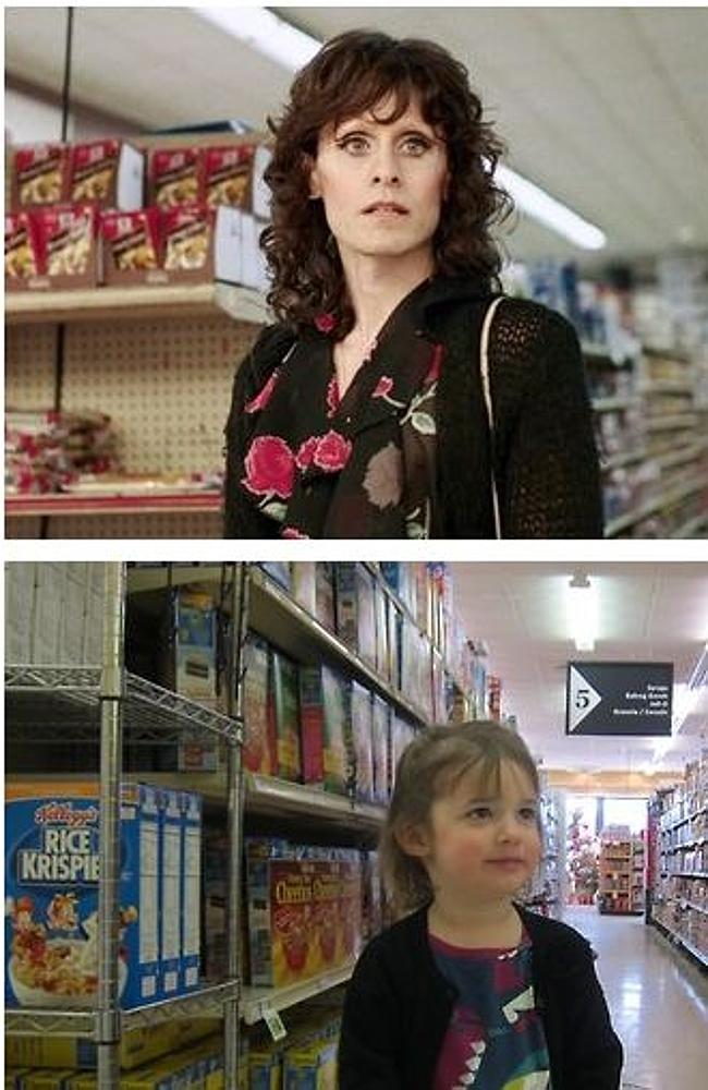 Supermarket blues ... Sadie makes light of Jared Leto's character in Dallas Buyers Club. Picture: Don't Call Me Oscar