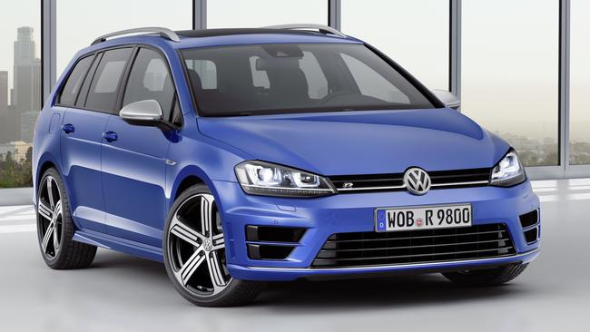 VW Golf R wagon might be four-cylinder turbo but it has V8 speed, and high performance brakes as standard (they're optional on the cheaper Golf GTI). Picture: Supplied.