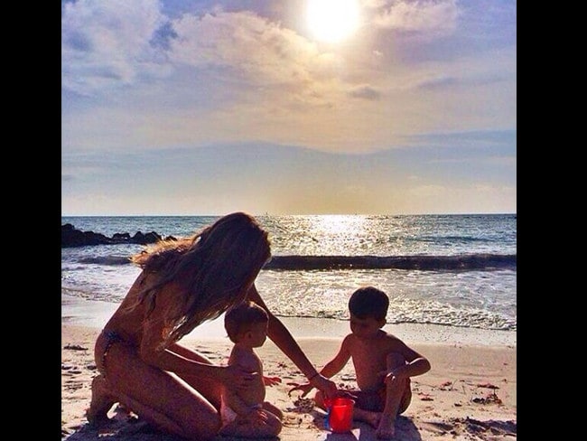 Brazilian model Gisele Bündchen with children Vivienne and Benjamin. Picture: Instagram