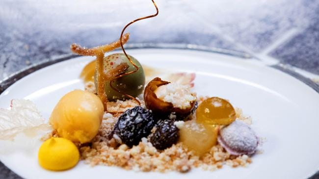 Winning ... Billie's botrytis cinerea dessert, which won her the competition. Picture: Channel 10.