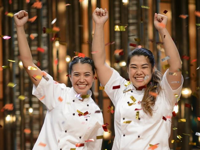 MKR 2016 winners sisters Tasia and Gracia Seger from Victoria. Picture: Channel 7