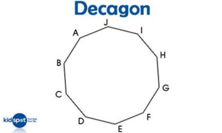 Shapes for kids: Decagons