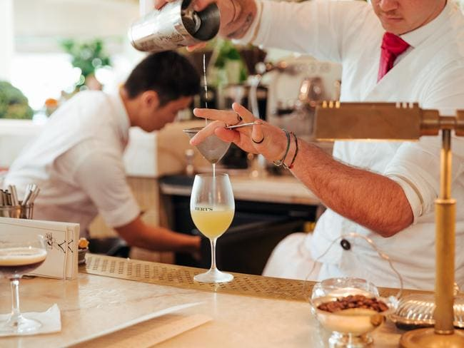 Sit at the bar and have a drink at Bert's, the chic new brasserie at The Newport.