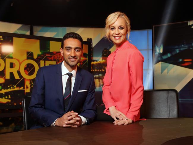 Audience members at a number of Channel 10 shows were urged to vote for their nominees. Picture: Richard Dobson