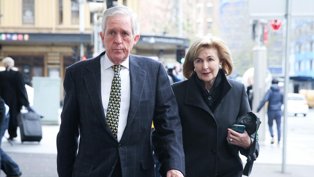 Katrina Dawson's parents Alexander and Jane leave the Lindt Cafe Inquest. (Pic: Renee Nowytarger/The Australian).