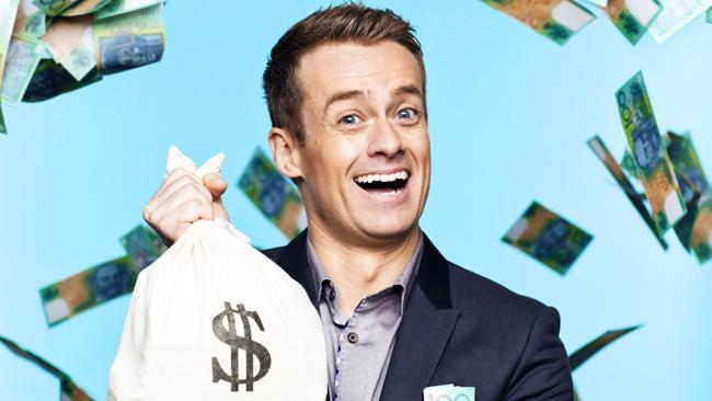Grant Denyer, host of Million Dollar Minute on Channel 7. Photo by Nigel Lough