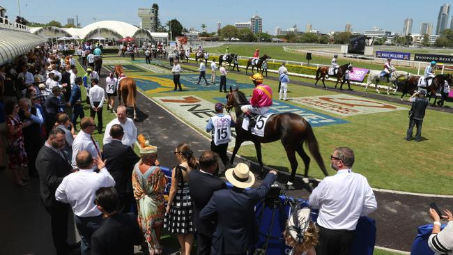 The Magic Millions meeting pulled another big crowd on Saturday. Picture: Mike Batterham