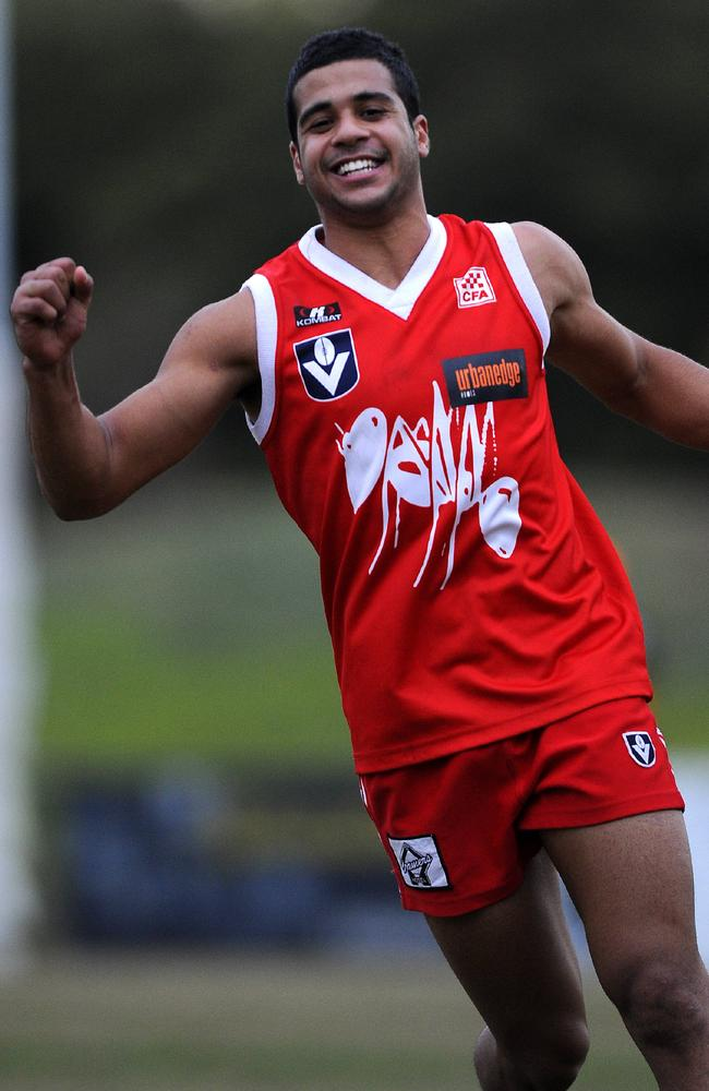 Ahmed Saad celebrates a Northern Bullants win.