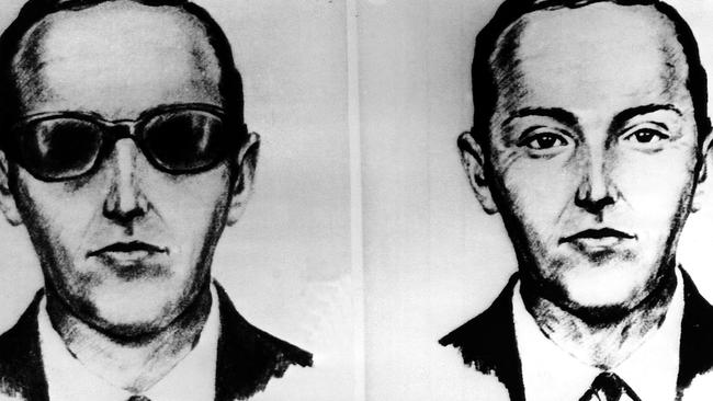 An undated sketch of DB Cooper based on recollections of the passengers and crew of the Northwest Airlines jet he hijacked. Picture: AP