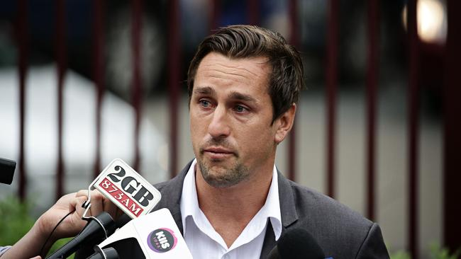 Mitchell Pearce speaking for the first time after the Australia Day 'dog scandal'. Picture: Adam Yip