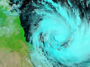 NASA image of Cyclone Debbie.