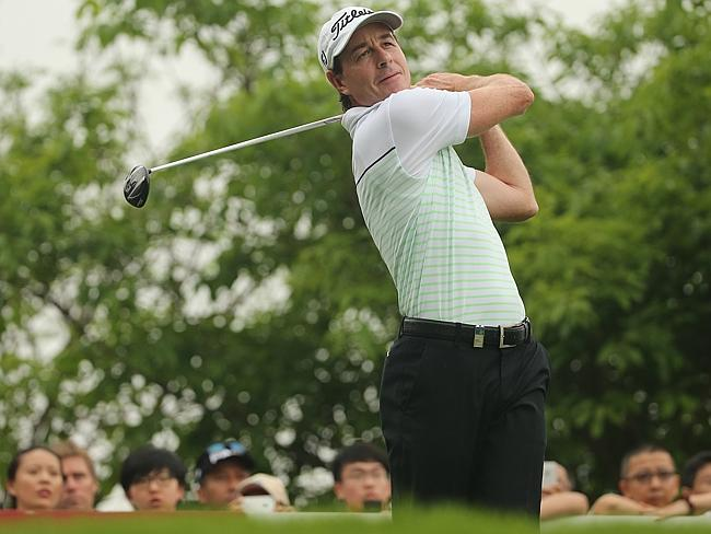 Good start ... Brett Rumford of Australia in action during round one of the China Open. P