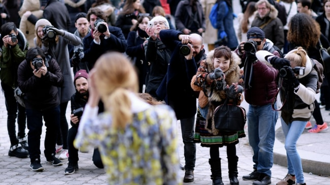 The street style scrum. Photo: Getty