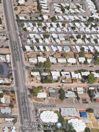 The area in Tucson near where the house was found. Picture: Google Maps