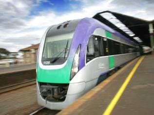 Fast train project slammed by auditor general, leaving Geelong Station.