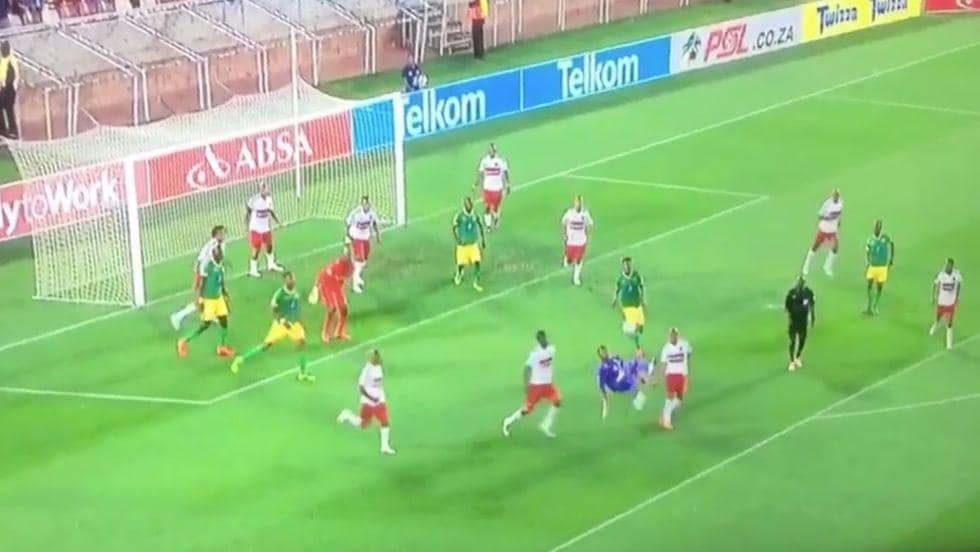 Goalkeeper goal video: bicycle kick, South Africa ...