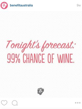 99% chance of wine.