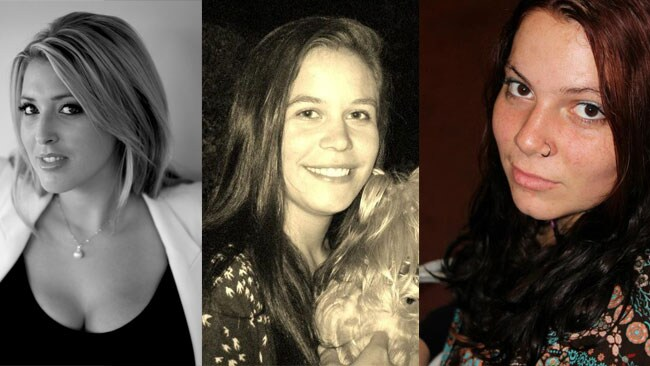 Sexologist Dr Nikki Goldstein, Sydney local Sasha-Lee Guthrie and 19-year-old student Ellie.