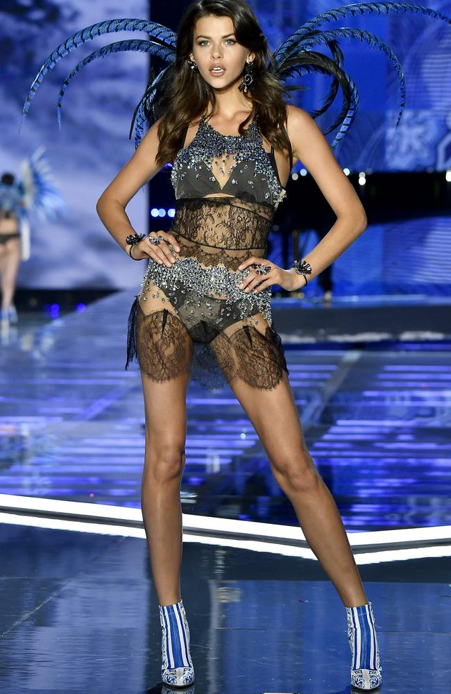 Georgia Fowler during the 2017 Victoria's Secret Fashion Show in Shanghai. Picture: Frazer Harrison/Getty Images for Victoria's Secret.