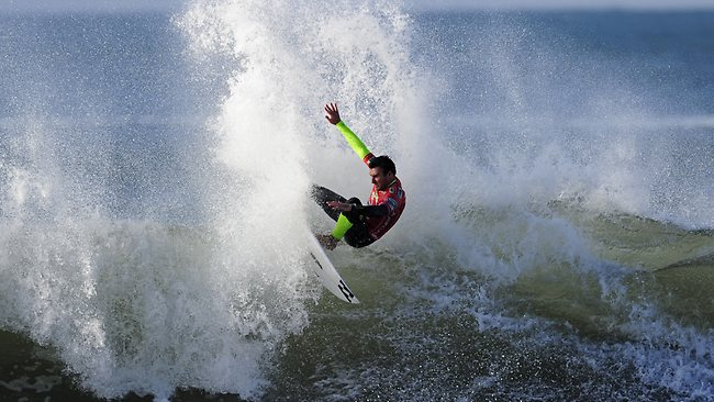 Joel Parkinson in action during his round 3 heat of the Rip Curl Pro at Bells Beach. Picture: Stephen Harman