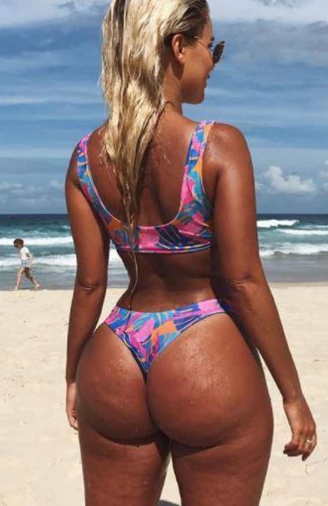 Karina also made a staggering ten edits to this bikini photo to show the power of Photoshop. Picture: Instagram