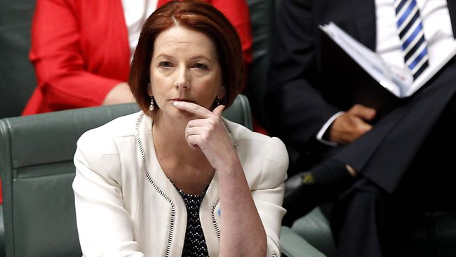 PM Julia Gillard in Question Time in the House of Representatives Chamber, Parliament House in Canberra. Picture: Kym Smith