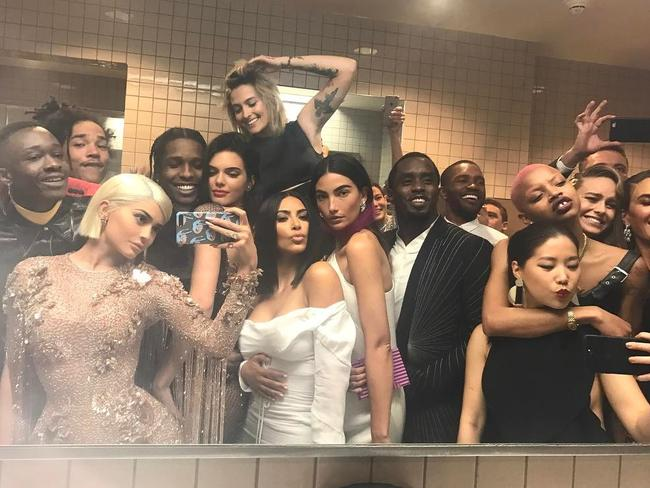 Kylie Jenner's bathroom selfie at the Met Gala. Picture: Instagram