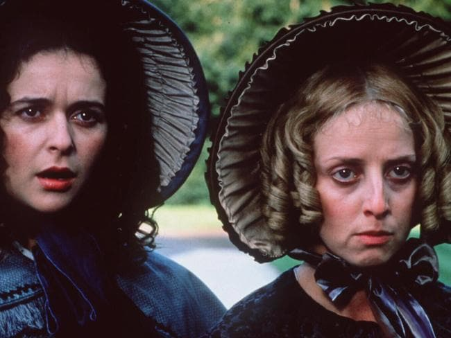 Julia Sawalha as Mercy Pecksniff (L) and Emma Chambers as Charity Pecksniff, in Martin Chuzzlewit. Picture: Supplied