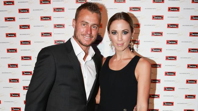 Happy couple ... Lleyton and Bec Hewitt. Picture: Supplied
