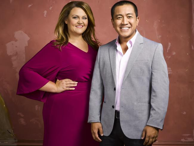 Chrissie Swan and Ahn Do are the perfect hosts. Picture: Channel Ten
