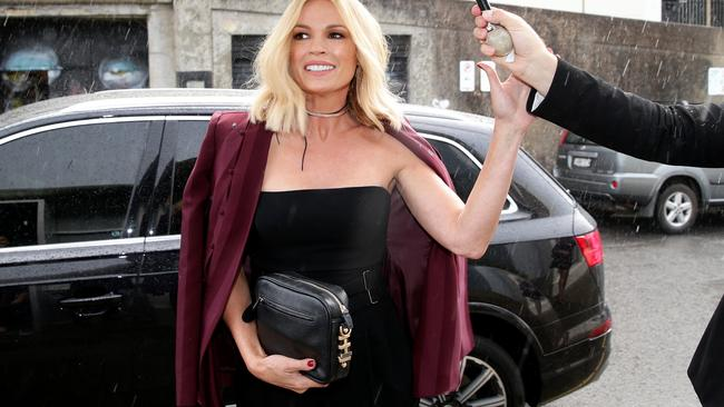 Sydney storms couldn't dampen the party for host Sonia Kruger. Picture: Jonathan Ng