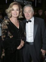 Jessica Lange and Robert De Niro pose in the audience at the 69th Primetime Emmy Awards on Sunday, Sept. 17, 2017, at the Microsoft Theater in Los Angeles. Picture: AP