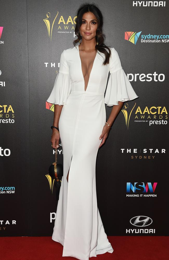 Pia Miller arrives ahead of the 5th AACTA Awards Presented by Presto at The Star on December 9, 2015 in Sydney, Australia. Picture: AAP