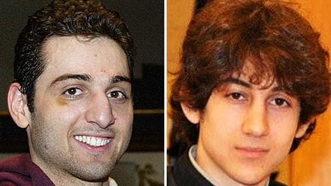 The the two brothers allegedly behind the Boston Marathon bombing. Picture: AP.