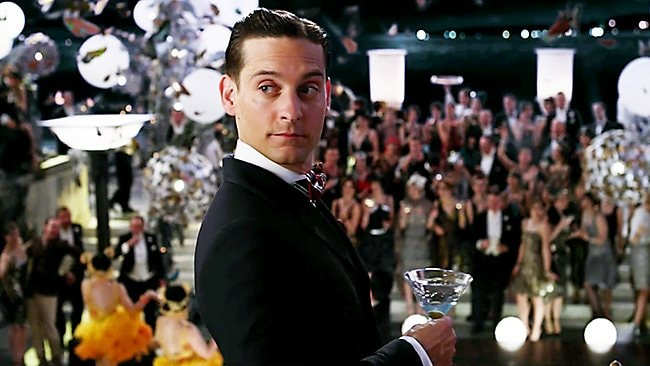 Tobey Maguire as Nick Carraway. Picture: Big Australia