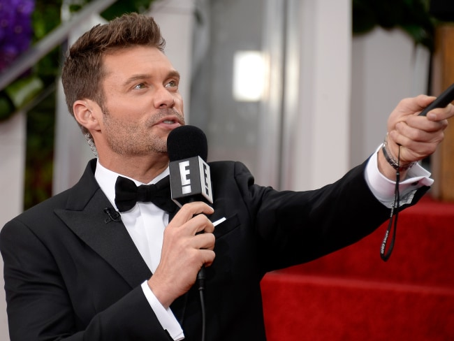 TV personality Ryan Seacrest on the red carpet for E!. Photo: Kevork Djansezian / Getty